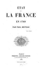 État de la France en 1789