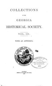 Collections of the Georgia Historical Society: Volume 3