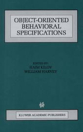 Object-Oriented Behavioral Specifications