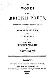 The Poetical Works of John Langhorne: In Two Volumes. Collated with the Best Editions: