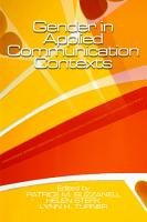 Gender in Applied Communication Contexts PDF