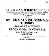 Christiani Wildvogelii ... de supervacuis observationibus ... programma inaugurale: Volume 6