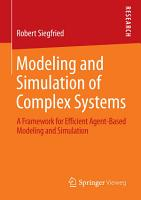 Modeling and Simulation of Complex Systems PDF