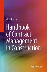 Handbook of Contract Management in Construction PDF