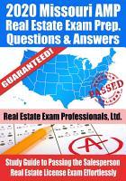 2020 Missouri AMP Real Estate Exam Prep Questions   Answers PDF