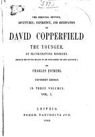 The Personal History  Adventures  Experience  and Observation of David Copperfield the Younger PDF