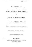 Rudiments of Public Speaking and Debate PDF