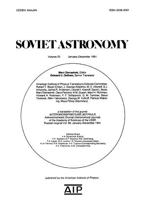 Soviet Astronomy PDF