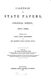 Calendar of State Papers, Colonial Series: America & West Indies 1574-1660