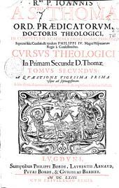 Rmi. P. Ioannis a Sto. Thoma ... Cursus theologici in primam secundae D. Thomae: A quaestione vigesima prima vsque ad septuagesimam. Tomus secundus