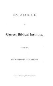 Catalogue of the Graduate School of Theology