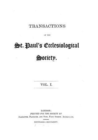 TRANSACTIONS OF THE ST  PAL S ECCLESIOLOGICAL SOCIETY PDF