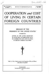Cooperation and Cost of Living in Certain Foreign Countries: Message, Mar. 13, 1912