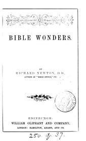 Bible wonders [sermons].