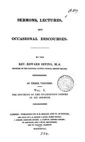 Sermons, lectures, and occasional discourses: Volume 1