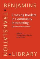 Crossing Borders in Community Interpreting PDF