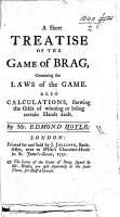 A short Treatise on the Game of Brag  etc PDF