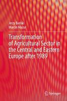 Transformation of Agricultural Sector in the Central and Eastern Europe after 1989 PDF