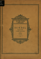 Selected compositions for pianoforte in two volumes