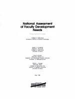 National Assessment of Faculty Development Needs in Colleges of Agriculture PDF