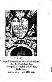Pia desideria: Lib[ri] tres ad Ferdinandu[m] IV. Hung[ariae] ac Boemiae Regem