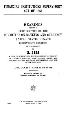 Financial Institutions Supervisory Act of 1966 PDF