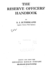 The Reserve Officers' Handbook