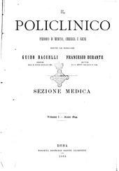 Il Policlinico: Sezione medica, Volume 1