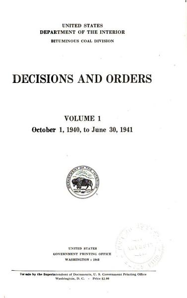 Decisions and Orders PDF