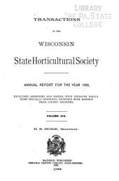 Annual Report of the Wisconsin State Horticultural Society: Volume 19