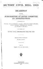 Sundry Civil Bill, 1919