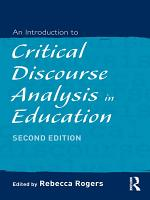 An Introduction to Critical Discourse Analysis in Education PDF