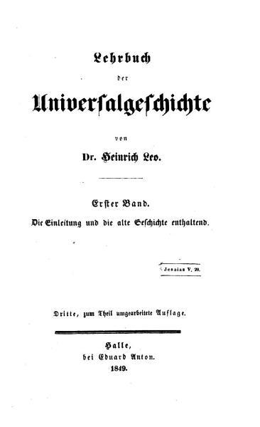 Lehrbuch der Universalgeschichte  Bd  Die Einleitung und die alte Geschichte enthaltend PDF