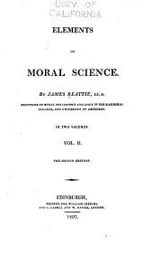 Elements of Moral Science: Volume 2