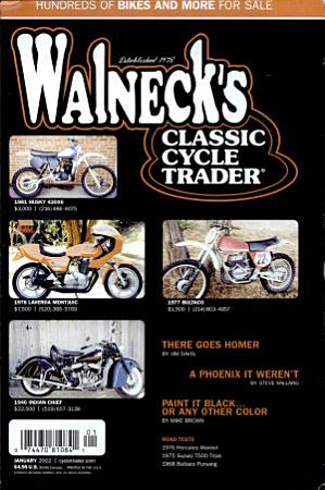 WALNECK S CLASSIC CYCLE TRADER  JANUARY 2002 PDF