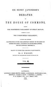 Debates of the house of commons during the thirteenth parlia: Volume 2