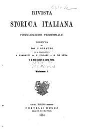 Rivista storica italiana: Volume 1