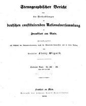 Stenographischer Bericht über die Verhandlungen der Deutschen consituirenden Nationslversammlung zu Frankfurt am Main: Band 7