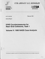 IVHS Countermeasures for Rear-end Collisions