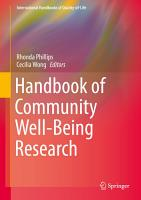 Handbook of Community Well Being Research PDF