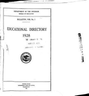 Bulletins of the Bureau of Education  1906 1927 PDF