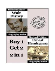 Celebrity Biographies - The Amazing Life Of Walt Disney and Ernest Hemingway - Biography Series