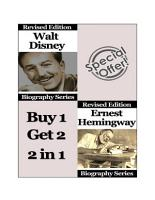 Celebrity Biographies   The Amazing Life Of Walt Disney and Ernest Hemingway   Biography Series PDF