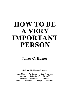 How to be a Very Important Person PDF