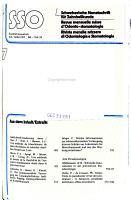 Revue mensuelle suisse d odonto stomatologie PDF