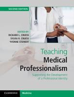 Teaching Medical Professionalism PDF