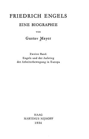Friedrich Engels  Engels und der Aufstieg der Arbeiterbewegung in Europa PDF