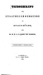 Tijdschrift voor staathuishoudkunde en statistiek: Volume 2