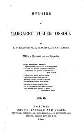 Memoirs of Margaret Fuller Ossoli: Volume 2