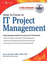 How to Cheat at IT Project Management PDF